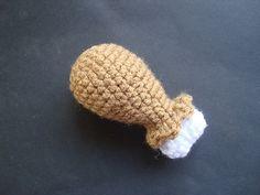 8 Amigurumi Turkey FREE Crochet Patterns: Tiny Turkey Leg FREE Crochet Pattern