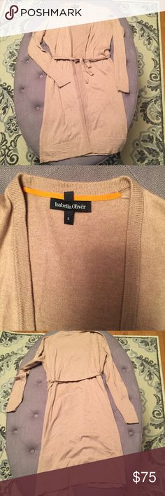 "🤰🏻ISABELLA OLIVER MATERNITY DUSTER CARDIGAN The most versatile maternity piece! I wore this with skinny jeans, leggings, tank dresses, pretty much everything through all 4 seasons! Size small, TTS. In gently used condition. Imperfections are shown in photos (dry cleaner stuck a safety pin for the belt and there are two teeny tiny holes from that). I'm 5'4"" and this hits right above the knee.  💋 Reasonable offers welcome 〰 ALL measurements are approximate  🚫 Sorry, NO trades ❗️NO MODELING…"