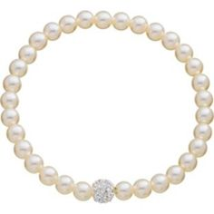 Beautifully elegant; Fresh Water Pearl Glitter Ball Bracelet from Argos.