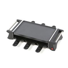 Features:  -Grill any food on top of the removable nonstick plate broil meat, vegetables, and cheese in bottom serving trays.  -Easy to clean, removable components.  -Includes 6 nonstick serving trays
