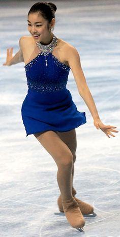 Yuna Kim -Blue Figure Skating / Ice Skating dress inspiration for Sk8 Gr8 Designs.