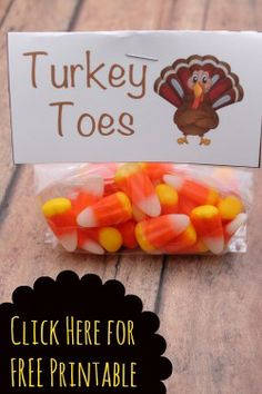 Turkey Toes Craft including Free printable