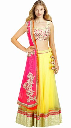 £127.06 from india bazaar online. Would wear YELLOW skirt, PINK dupatta & some alterations require for the top.  Code: SUUDL2413