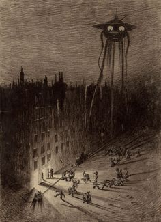 "41 Strange sur Twitter : ""Original drawings from the 1906 edition of H.G. Wells' ""The War of the Worlds"", illustrated by Brazilian artist Henrique Alvim Corrêa https://t.co/xghhHYYC4k"""