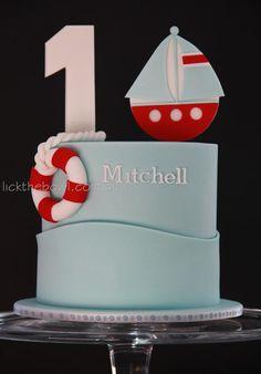 Lick the Bowl Nautical Birthday Cakes, 1st Birthday Cake Topper, Bithday Cake, Nautical Cake, First Birthday Cakes, 1st Boy Birthday, Sea Cakes, Cake Icing, Cupcake Cakes