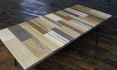 Reclaimed Wood Coffee Table Unframed Wood Coffee Table Hairpin Legs – Blue Ridge Woodworking