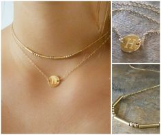 Layered Gold Necklaces Set Of 2 Set Of 2 Gold by annikabella