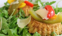Ricotta Tartlets with Pickled Peppers : Dinner Dash with Hilary Biller : The Home Channel Salmon Burgers, Ricotta, Channel, Low Carb, Yummy Food, Stuffed Peppers, Dinner, Breakfast, Ethnic Recipes