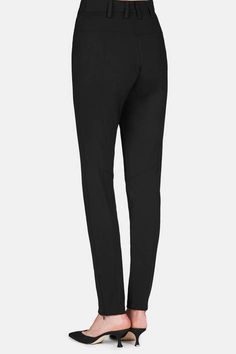 """Slim and seductive in stretch viscose crepe, this tailored black pant is an ideal match for the opulent tops of the fall 2016 Altuzarra collection: """"a…"""