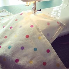 Some spotty teatowels in progress! Check them out in my Etsy shop 😊