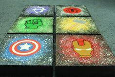Avengers Canvas by KaySoles on Etsy - Visit to grab an amazing super hero shirt now on sale! Avengers Room, Avengers Art, Avengers Crafts, Superhero Room, Superhero Canvas, Marvel Canvas, Diy Canvas, Canvas Art, Chambre Nolan