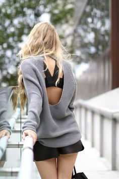 I love this! want more open back sweaters, dresses....etc