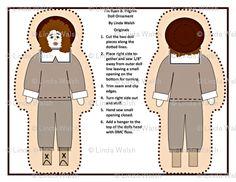 I'm Ryan B. Pilgrim Boy Cut and Sew Doll by Linda Walsh