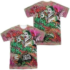 Suicide Squad - Joker Psychedelic Cartoon All Over Print T-Shirt
