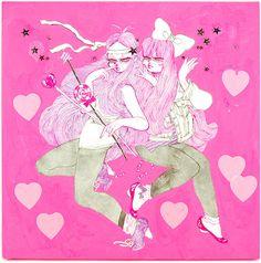 eimi Local Artists, Girl Cartoon, Gemini, Art Gallery, Happy Birthday, Japanese, Illustration, Artwork, Anime