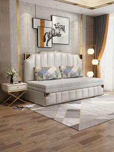 Best Indoor Garden Ideas for 2020 - Modern Sofa Bed Design, Living Room Sofa Design, Bedroom Bed Design, Bedroom Furniture Design, Bed Furniture, Home Decor Bedroom, Coaster Furniture, Decor Room, Diy Bedroom