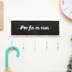 Colgador de pared con pizarra #mrwonderfulshop #blackboard #home #decoration