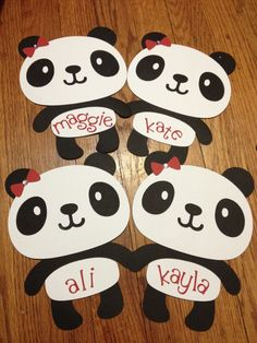 Panda Door Decs (RA name tags reslife) Toddler Crafts, Preschool Crafts, Crafts For Kids, Arts And Crafts, Preschool Worksheets, Children Crafts, Art Crafts, Panda Bear Crafts, Panda Craft