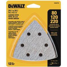 DEWALT DWASPTRI Hook and Loop Triangle Sandpaper Assorted... https://www.amazon.com/dp/B00FMHQ1OU/ref=cm_sw_r_pi_dp_x_wLYnybG2315NF