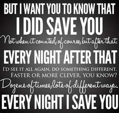 """Every night I save you."" one of the best quotes of the season"