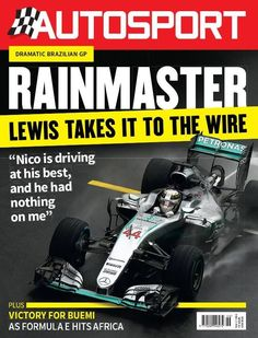 Two drivers starred in a dramatic – and sometimes chaotic – Brazilian Grand Prix. Lewis Hamilton underlined his wet-weather credentials with a dominant victory that takes the F1 title fight down to the wire, while Max Verstappen provided yet more evidence that he is going to become one of the sport's greats.  Apart from our extensive GP coverage, this week's issue of Autosport also includes reports on Sebastien Buemi's consummate performance as Formula E raced in Africa for the first time…