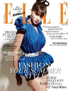 Covers of Elle India with Genelia D'Souza, 958 2010 | Magazines | The FMD #lovefmd