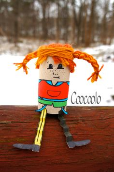 Pippi Longstocking Toilet Paper Roll Craft - Coocoolo