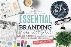 Essential Branding & Identity kit by Lisa Glanz on @creativemarket