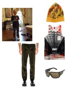 """Kyler Inspired"" by mahayla-huff ❤ liked on Polyvore featuring Vivienne Westwood, Harmony, Dragon, men's fashion and menswear"