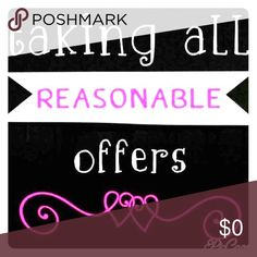 💕Reasonable Offers on Bundles Also💕 Taking all reasonable offers ☺ you can make offers on bundles also 💕 Other