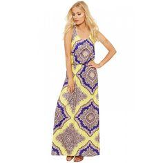 Ainsley Balloon Halterneck Maxi Dress