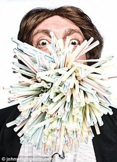 most straws in mouth guiness record  Simon Elmore had put 400 drinking straws in his mouth, hold those straws for 10 seconds and succeeded.