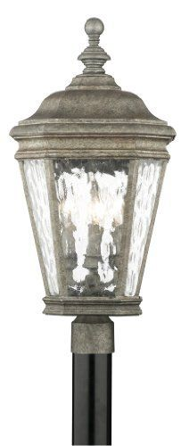 Thomas Lighting M5115-66 Astoria Four-Light Post Lantern, Silver Slate by Thomas Lighting. $114.62. From the Manufacturer                Thomas Lighting established in 1919 is known for it's style and quality, the Astoria Exterior Collection offers a variety of sizes in this decorative exterior collection. With a hinged-door for easy re-lamping, die-cast aluminum body, water seedy glass panels and decorative scroll-work it will add an element of design to your homes exter...