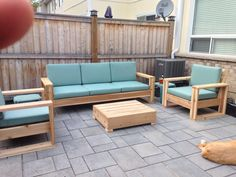 DIY Cedar Patio Furniture - made summer of 2015