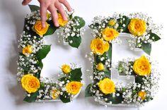 Lettres fleuries DIY