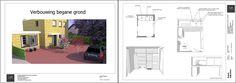 nl - presentatieboek met o. impressies van verbouwingsontwerp, gemaakt in SketchUp LayOut Sketchup Pro, Floor Plans, Van, Layout, Page Layout, Vans, Floor Plan Drawing, House Floor Plans