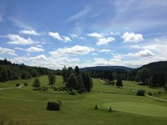 View from clubhouse in Oberzwieselau, Bavaria. What a lovely place.