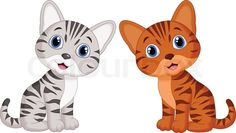 Vector illustration of Cute baby cat cartoon | Vector | Colourbox