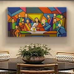 Arte Pop, Last Supper Art, Art Room Doors, Cubism Art, Jesus Art, Biblical Art, Mosaic Projects, Diy Canvas Art, Autumn Art