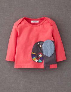 Shirt mit Tierapplikation: Elefante