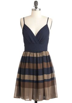 Soiree to Go Girl Dress - Blue, Yellow, Solid, Checkered / Gingham, Casual, Empire, Spaghetti Straps, Summer, Mid-length