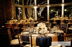 Bridal Bliss Wedding: Love the warmth of the Gold accents paired with Navy and Blush