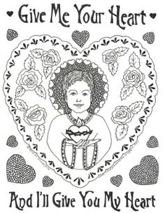 Saint Valentine Coloring Sheet  Murderthestout