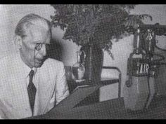 Jinnah (popularly known as the Quaid-e-Azam - Urdu for 'great leader') giving his reaction to the partition plan on June 3rd 1947 on All India Radio