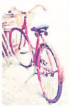Bicycle waterlogue