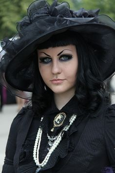 Goth Girl in Hat, via Flickr.