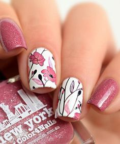 Prettiest Pink Sheer Color Nail Design for Prom