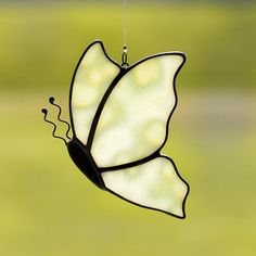 Butterfly, stained glass butterfly, butterfly suncatcher, green butterfly, butterfly ornament, handmade glass butterfly, handcrafted gift on Etsy