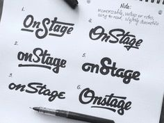 Onstage by Evgeny Tutov Typography Love, Typography Letters, Calligraphy Handwriting, Hand Type, Letter Logo, Logo Design Inspiration, Notes, Graphic Design, Creative