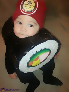 Sushi Roll Costume - 2013 Halloween Costume Contest via @costumeworks